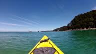 Kayaking in Abel Tasman national park, New Zealand video