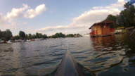 Kayaking in danube river video