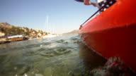Kayaking in the sea toward Mediterranean islands video