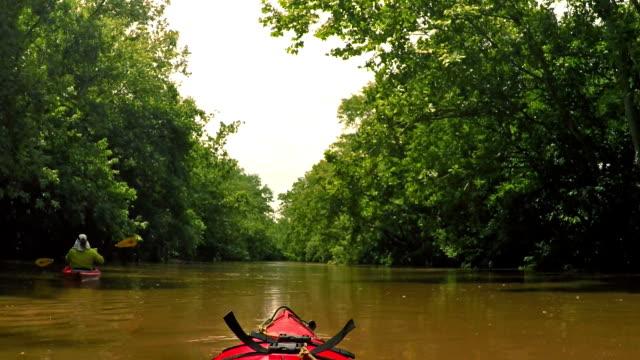 Kayaking on a creek video