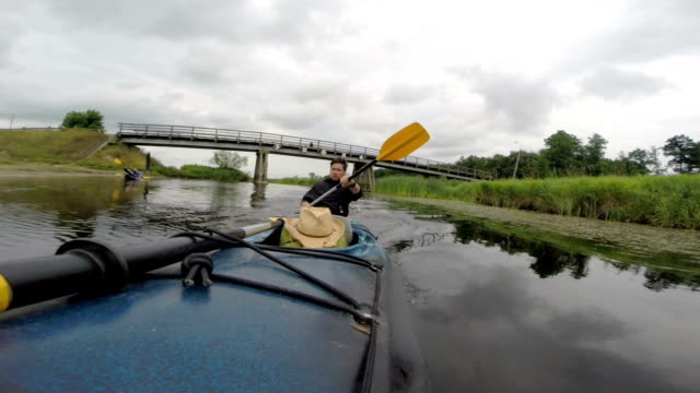 Kayaking on the river video