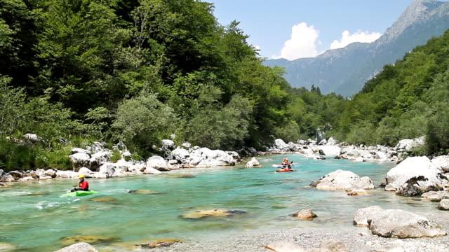 Kayaking on wild river video