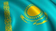 Kazakhstan Flag Loopable video
