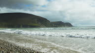 Keel Beach And Dooega Head On Achill Island In Ireland video