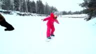 Keeping Balance on Snowskate video