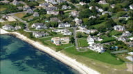 Kennedy Compound - Aerial View - Massachusetts,  Barnstable County,  United States video