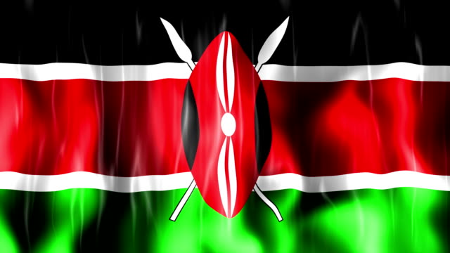 Kenya Flag Animation video
