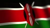 Kenya flag - loop. 4K. video