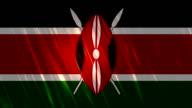 Kenya Flag Loopable Animation video