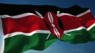 4K Kenya Flag - Loopable video