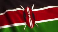 Kenya Flag Video Loop - 4K video