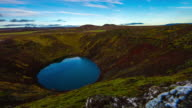 T/L Kerid volcanic crater lake video