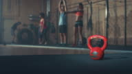 Kettle bell in gym gym video