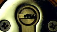 Key in door lock. video