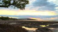 HD DOLLY: Key West Bridge At Sunrise video