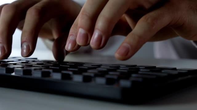 Keyboard typing video