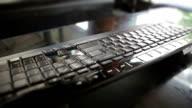 Keyboard,Dolly shot video