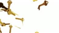 3D Keys Background Loop - Golden (Full HD) video