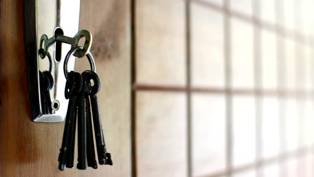 keys hanging on door video