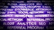 INTERNET MARKETING Keywords, Carpet Background, Loop video