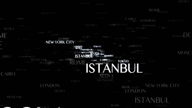 WORLD CITIES Keywords Explosion Animation, Traveling Concept, Rendering, Background, Loop video