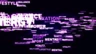 HEALTH Keywords Explosion Background, Loop video