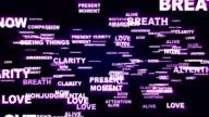 MINDFULNESS Keywords, Rendering, Animation, Background, Loop video