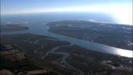 Kiawah Island And Ocean Course In Distance  - Aerial View - South Carolina,  Charleston County,  United States video