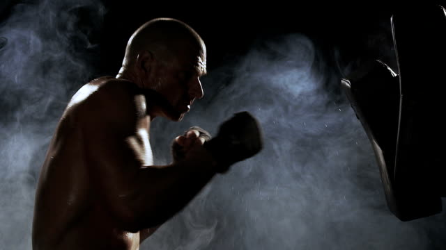 Kickboxer preparing for a fight video