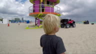 Kid and ATV on the beach video