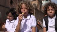 Kid Eating Potato Chips video