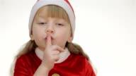 Kid girl showing shh video