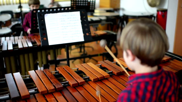 Kid Studying Percussion Instrument video