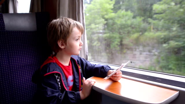 Kid Traveling by Train video