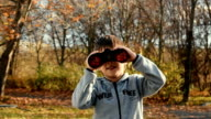 Kid with binocular video