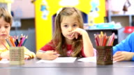 Kids Drawing at Kindergarten video