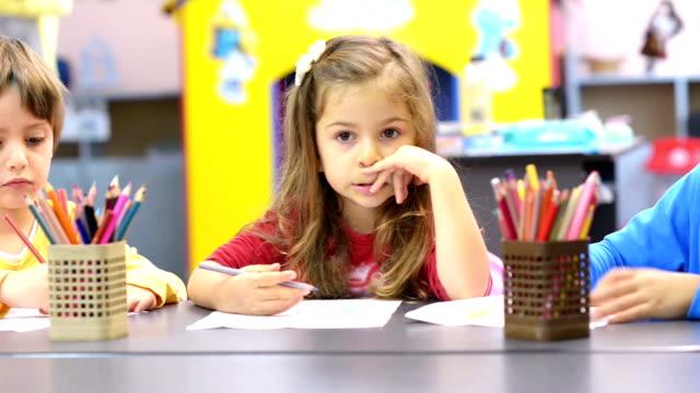 Kids Drawing at Kindergarten video
