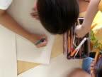 Kid's drawing video