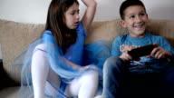 Kids fighting over phone video