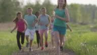 Kids Group Running video