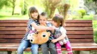 Kids hugging video