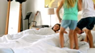 DOLLY: Kids jumping on parents bed video
