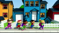 kids on their way to school video