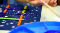 Kids Painting at Kindergarten video