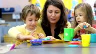 Kids Playing at Kindergarten video