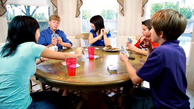 Kids Playing Cards video