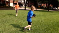 Kids Playing Catch Slow Motion video