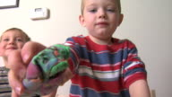 Kids playing with clay video