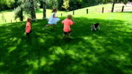 Kids Playing With Dog video