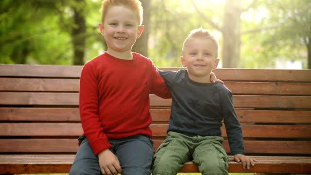 Kids smiling. video